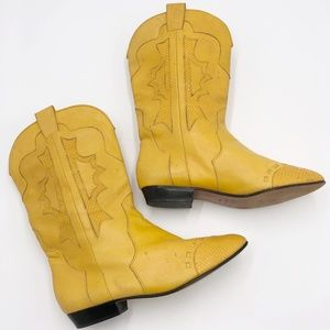 Vintage 80s Corsina Leather Cowboy Boots